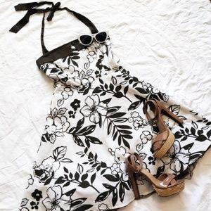 Floral Halter Party Dress